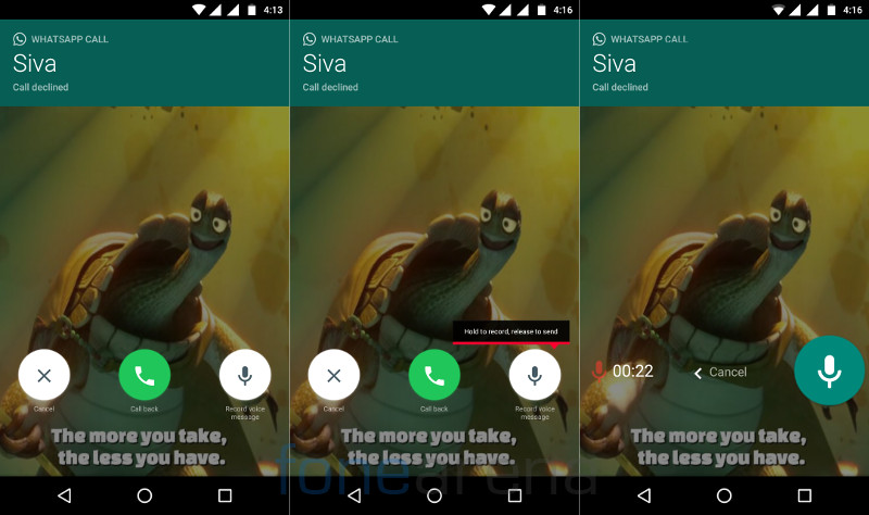 WhatsApp Android beta gets call back and voicemail feature