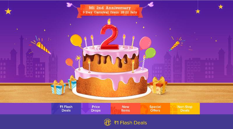 Xiaomi Mi India 2nd Anniversary sale