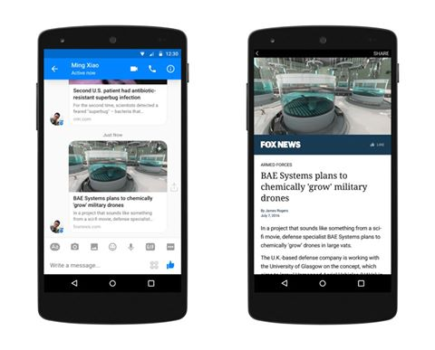 fb messenger instant articles