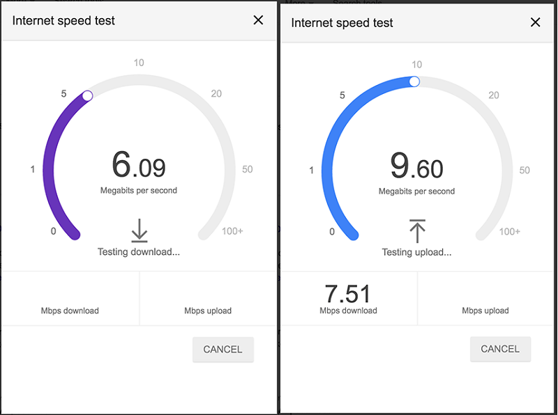 Google starts rolling out internet speed test into search results
