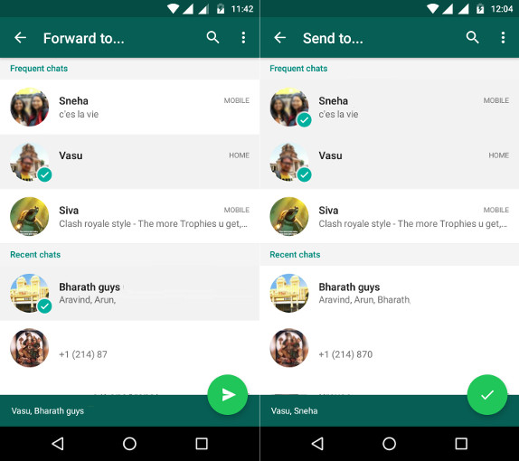 WhatsApp for Android beta gets share or forward to ...