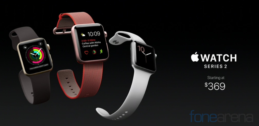 Apple Watch Series 2 with built-in GPS, brighter display ...