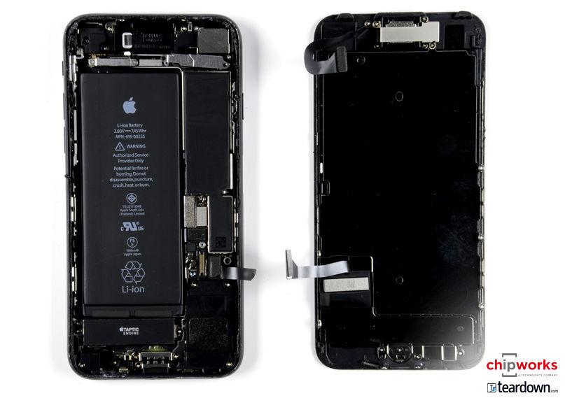 apple iphone 7 and 7 plus teardown confirms bigger battery