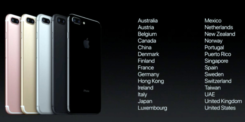 apple iphone 7 and iphone 7 plus launch countries and roll