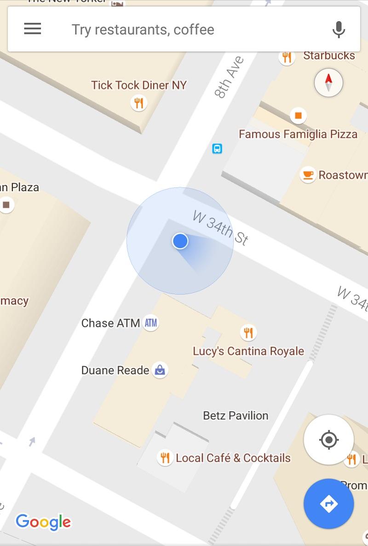 google-maps-blue-beam