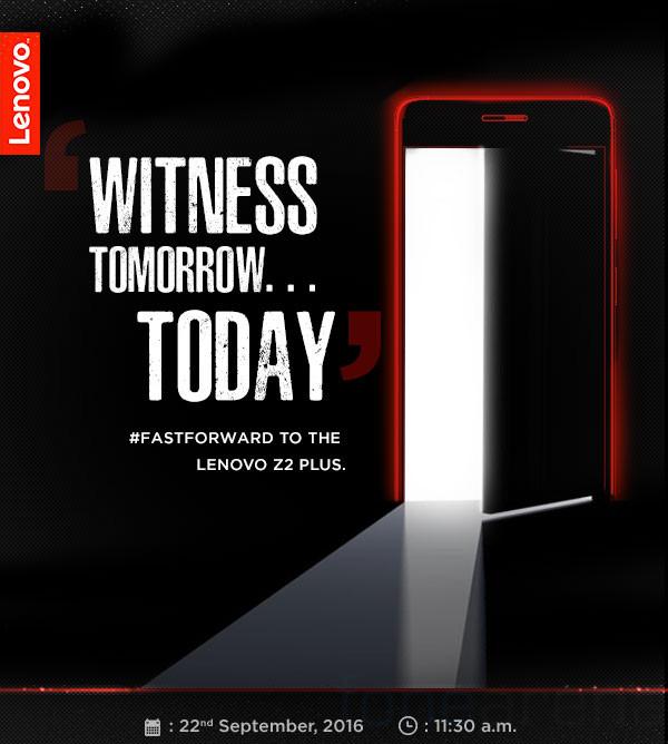 Lenovo Z2 Plus launching in India on September 22