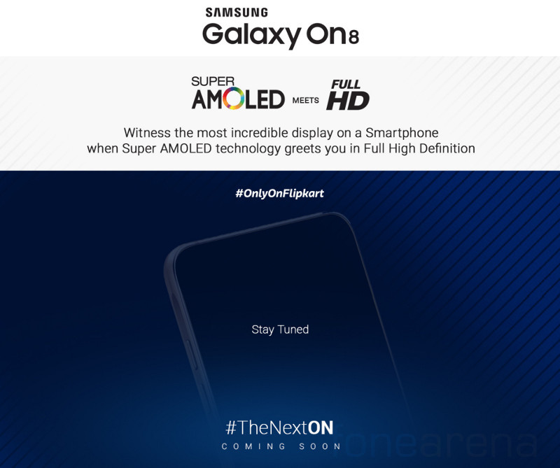 Samsung Galaxy On8 with 1080p Super AMOLED display to launch in India exclusively on Flipkart