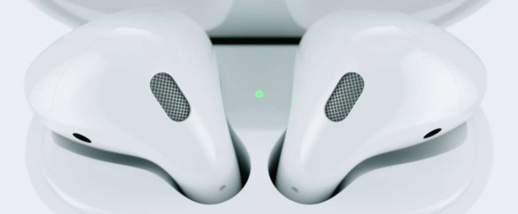 apple airpods are completely wireless earbuds with beam. Black Bedroom Furniture Sets. Home Design Ideas