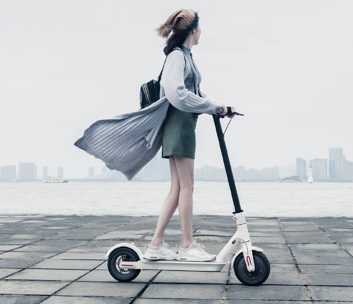 xiaomi mi electric scooter with folding design dual brake. Black Bedroom Furniture Sets. Home Design Ideas