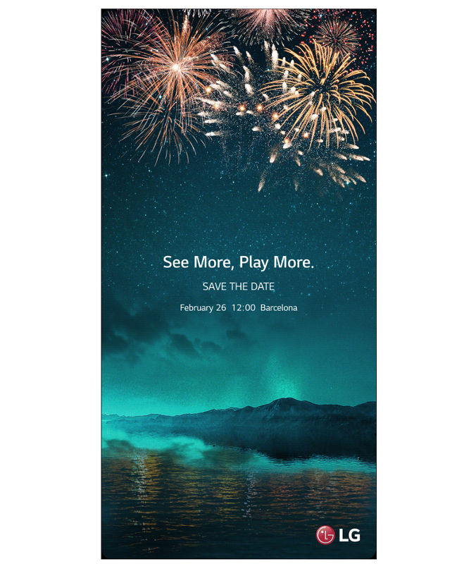LG G6 announcement scheduled for February 26 at MWC 2017