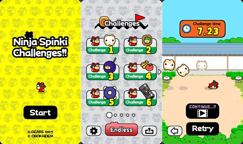 Flappy Bird creator releases Ninja Spinki Challenges for Android, iPhone and iPad