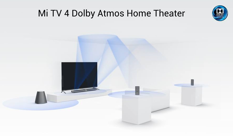 Xiaomi Mi TV 4 with 4.9mm slim frameless design, Dolby Atmos announced