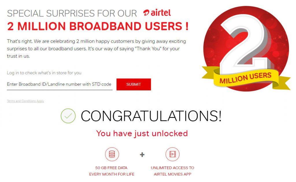 Airtel two million surprises