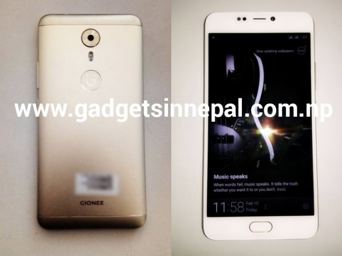 Gionee A1 with 16MP front camera, Android 7.0 live images surface ahead of MWC 2017