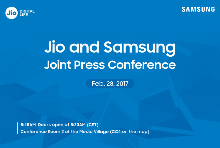 Jio and Samsung conference invite