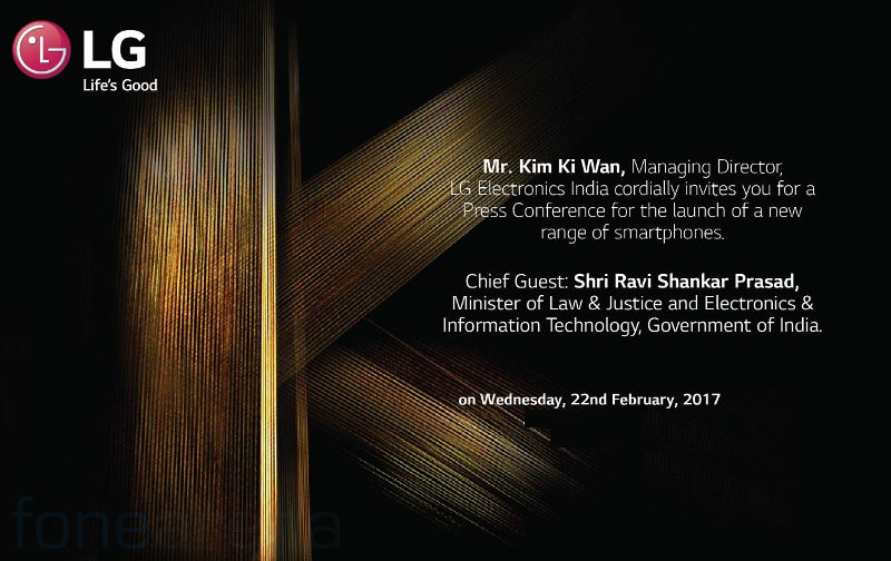 LG India K Series Smartphones launch invite