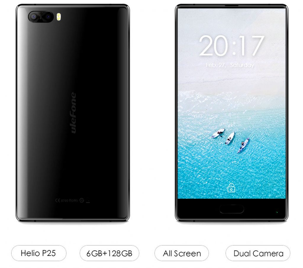 Ulefone F1 with bezel-less display, 6GB RAM, Dual rear cameras to be announced at MWC 2017