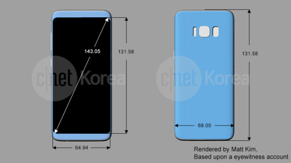 Samsung galaxy s8 with rear mounted fingerprint scanner spotted in samsung galaxy s8 with rear mounted fingerprint scanner spotted in render reheart Image collections