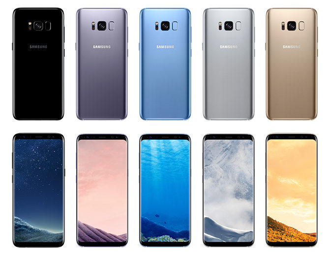 Samsung Galaxy S8 and S8 Plus colors