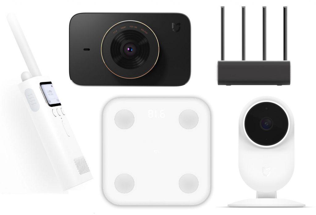 Xiaomi Mi Walkie Talkie, Mi Driving Recorder, Mi Smart Scale, Mi Router Pro, Mi Smart Camera