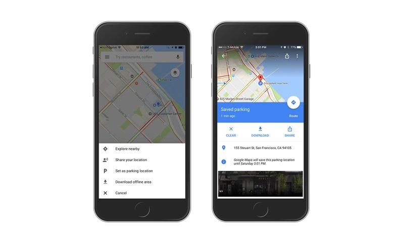Google Maps Parked Car Ios