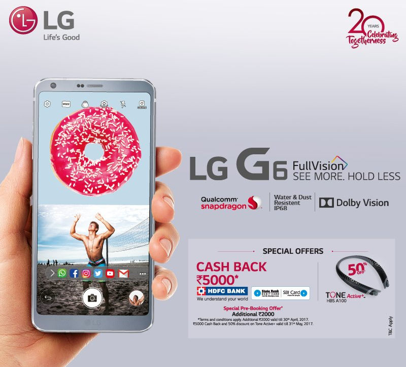 LG G6 India Pre-Booking offer