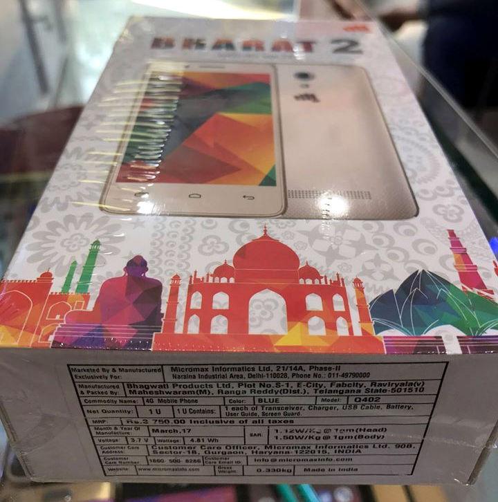 Micromax Bharat 2 box