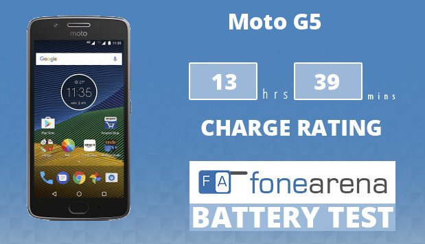 Moto G5 FA One Charge Rating