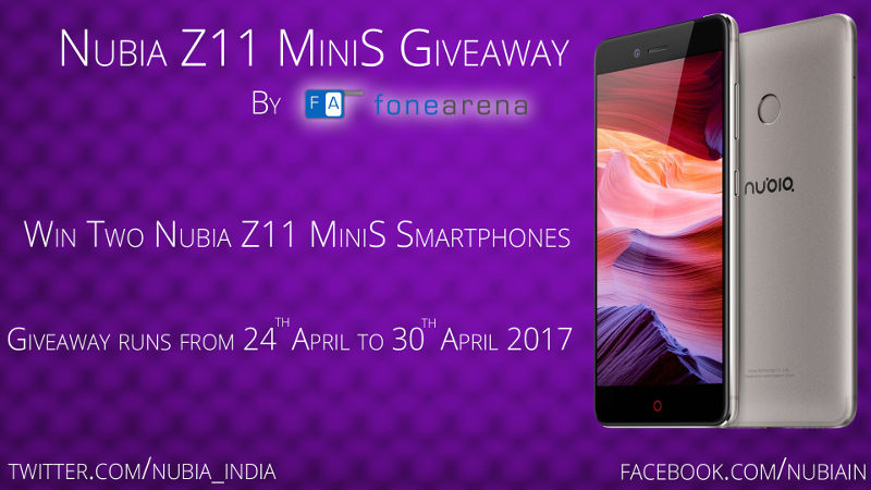 Nubia Z11 MiniS Giveaway