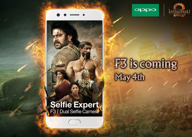 OPPO F3 India launch invite Baahubali