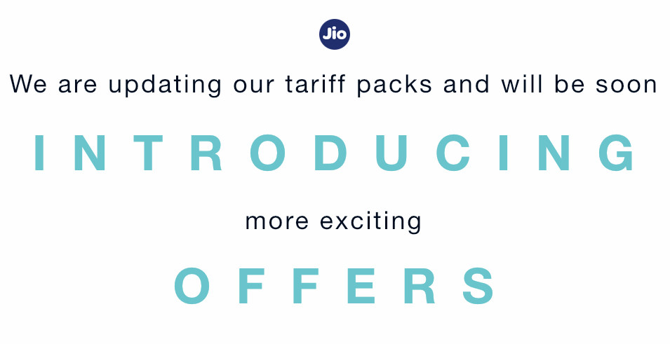 Reliance Jio new packs teaser