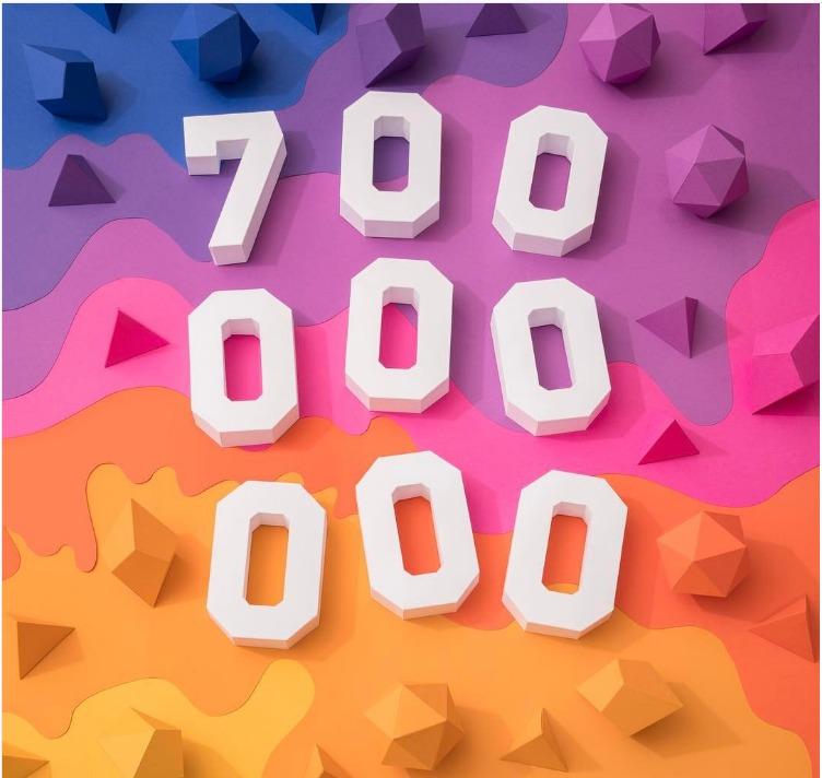 instagram 700M