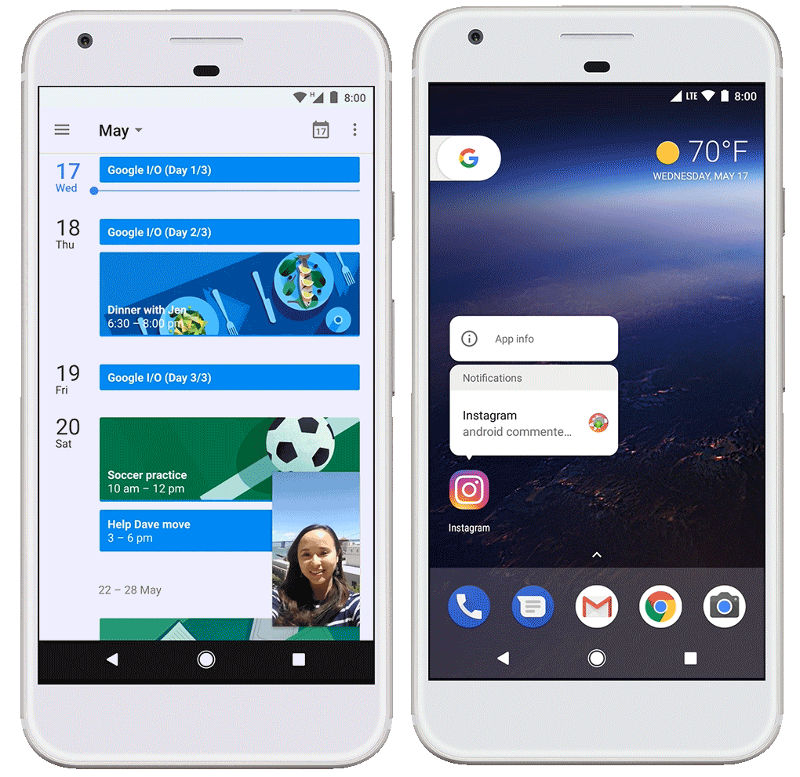 Android O Picture in Picture and Notification Dots