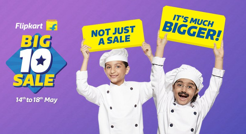 Flipkart Big 10 Sale May 14 to 18