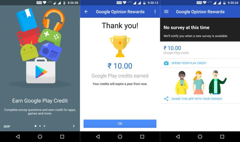 Google Opinion Rewards India