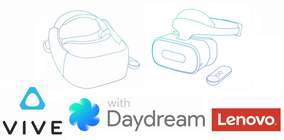 HTC Vive and Lenovo Google Daydream Standalone VR headset