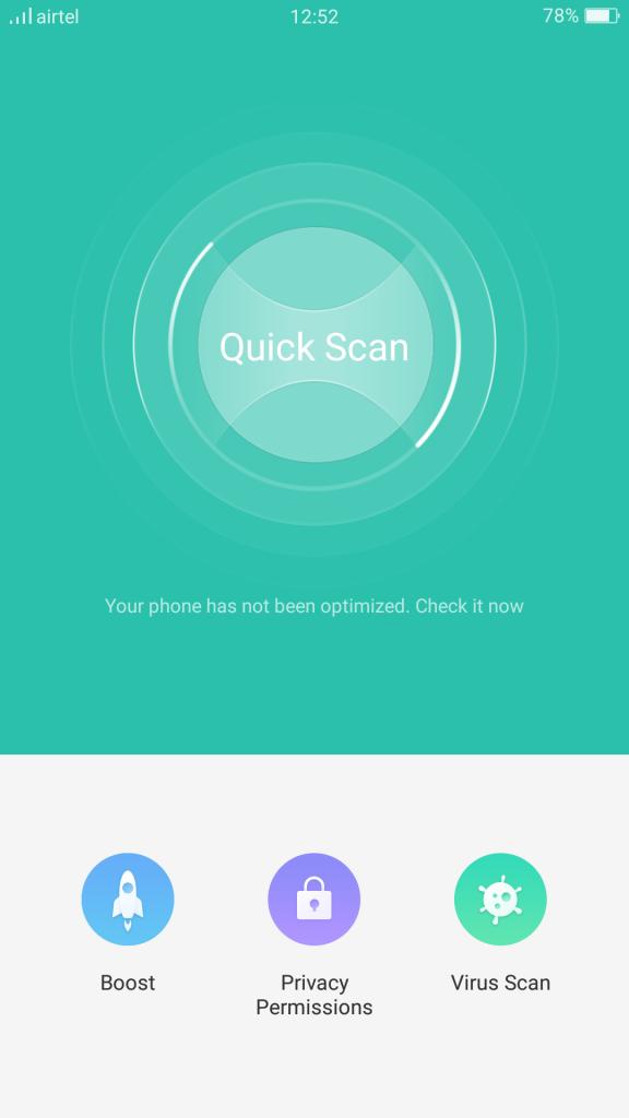 Oppo-F3-Cleaner-VIrus-scanner