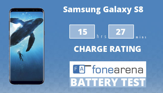 Samsung Galaxy S8 FA One Charge Rating