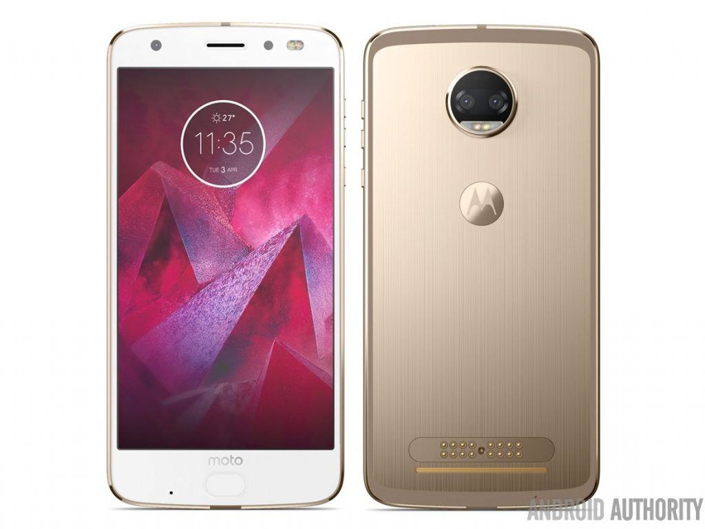 Moto Z2 Force with dual rear cameras surface in press images
