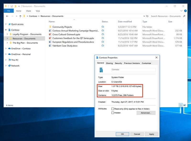oneDrive files on demand