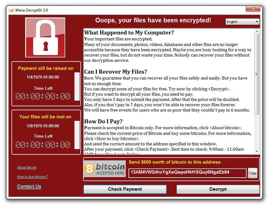 WannaCry ransomware attack based on NSA tools hits several countries