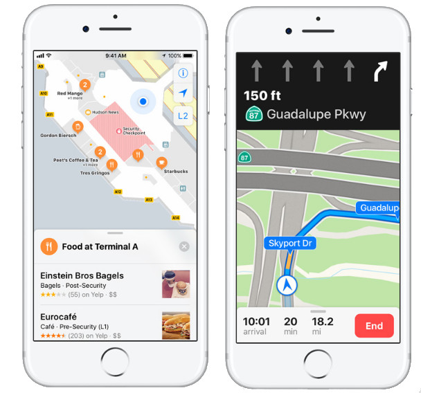 Apple iOS 11 Indoor Maps and Lane Guidance