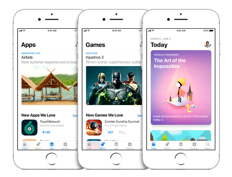 Apple iOS 11 New App Store