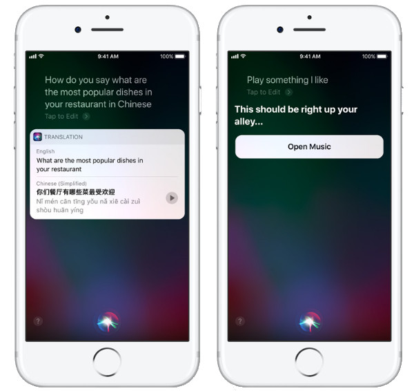 Apple iOS 11 Siri Translation