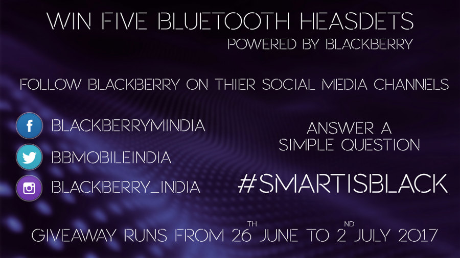 BlackBerry Mobile India Giveaway