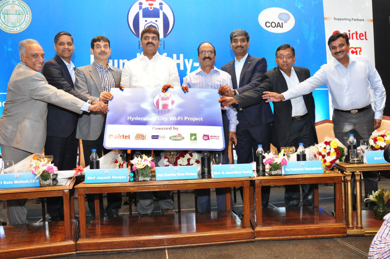 Hyderabad City Wi-Fi Project launch