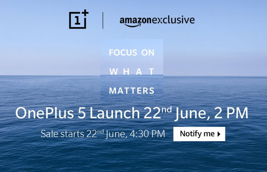 OnePlus 5 Amazon India June 22