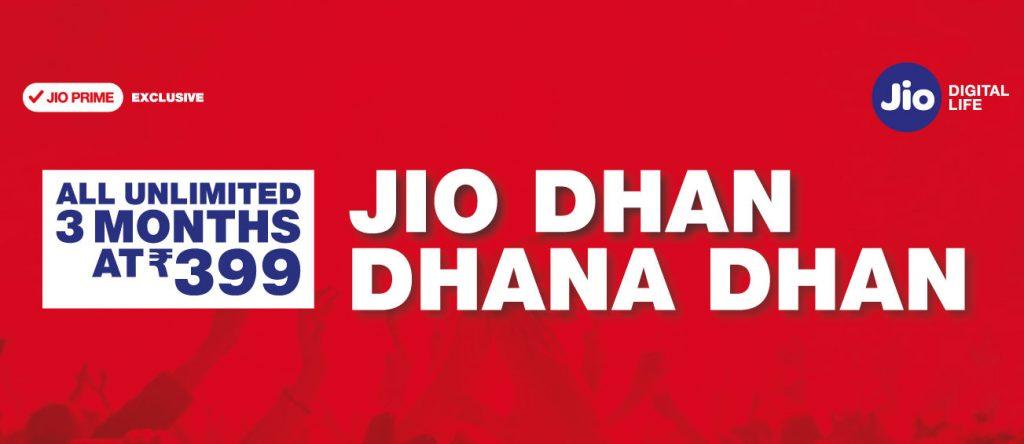 Jio 399 Dhan Dhana Dhan
