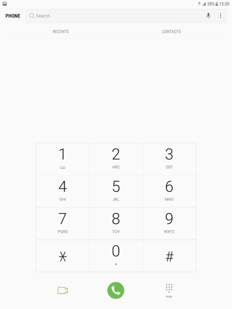 Samsung-Galaxy-Tab-S3-Dialler