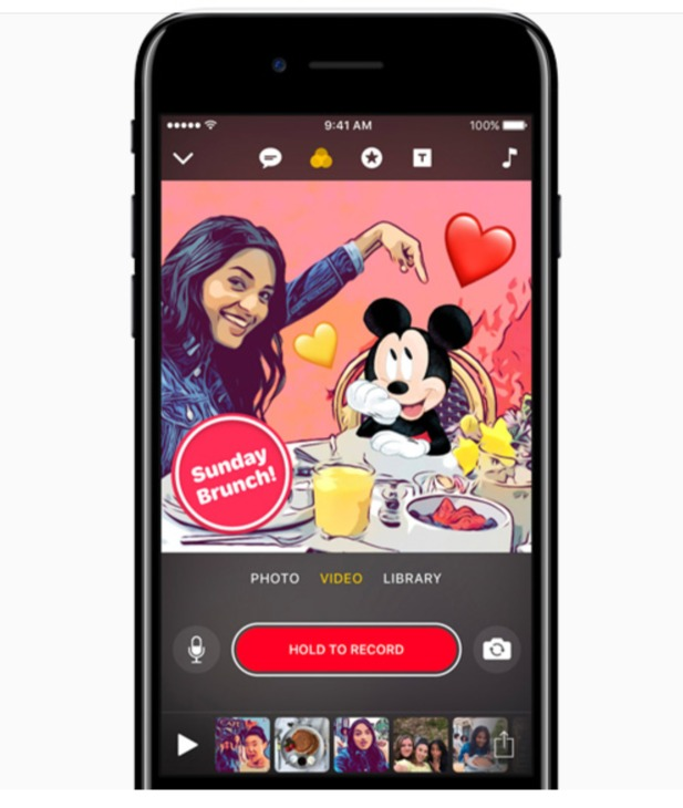Character Design App Iphone : Clips app gets disney and pixar characters new graphic
